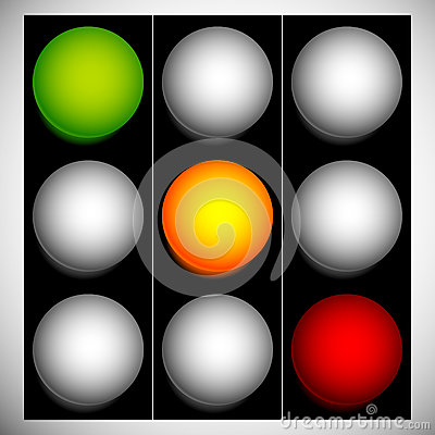 Free Traffic Lights, Traffic Lamps, Semaphore In Sequence Isolated On Royalty Free Stock Images - 81765129