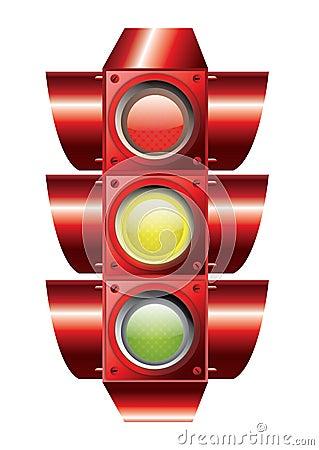 Traffic lights vector Cartoon Illustration