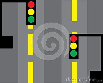 Traffic lights vector Vector Illustration