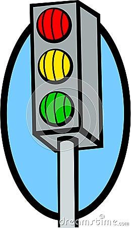 Traffic lights vector illustration Vector Illustration