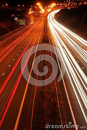 Traffic lines.