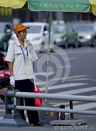Traffic management assistant Editorial Stock Photo