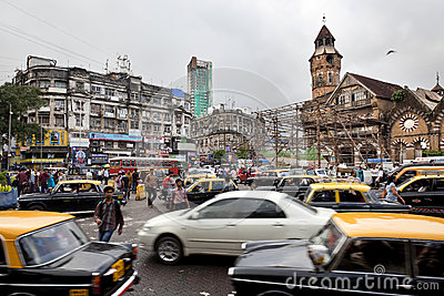 Traffic in Mumbai Editorial Photography