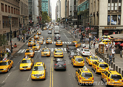 Traffic in New York Editorial Photo