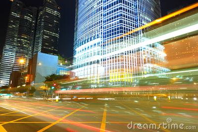 Traffic By Night Royalty Free Stock Images - Image: 16738569