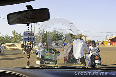 Traffic in Ouagadougou Editorial Stock Image