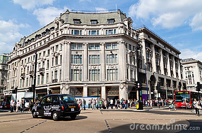 Traffic in Oxford Circus Editorial Stock Image