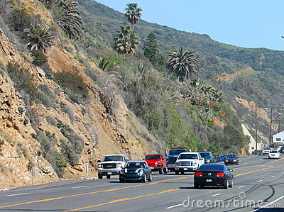 Traffic on PCH Editorial Stock Image