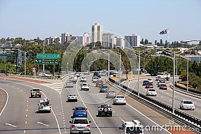 Traffic in Perth Editorial Photo