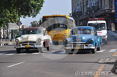 Traffic and pollution in Havana, Cuba Editorial Stock Image