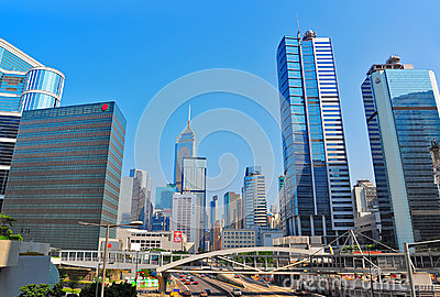 Traffic of queensway in admiralty, hong kong