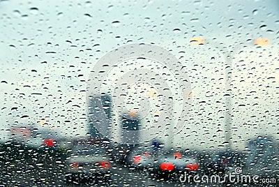 Traffic rainy day