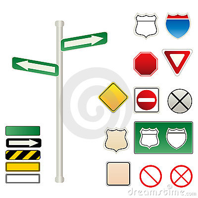 Traffic and road signs