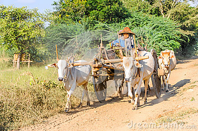 Traffic on The Roads Myanmar Editorial Stock Image