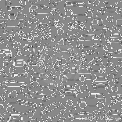 Free Traffic (seamless Vector Wallpaper) Stock Photography - 4995092
