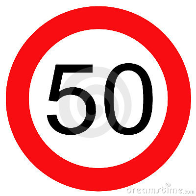 Traffic sign 50