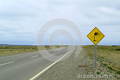 Traffic sign on a beautiful landscape
