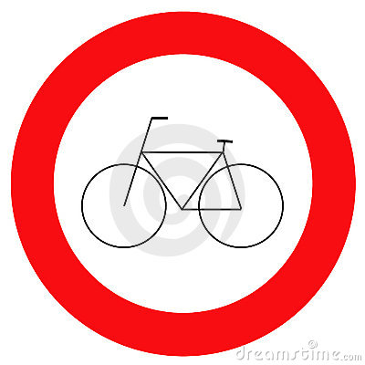 Traffic sign bicycle