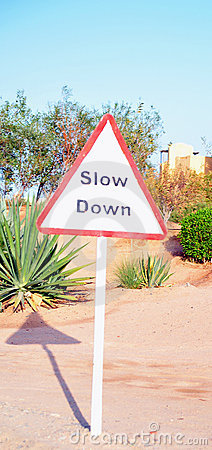 Traffic Sign in the Desert