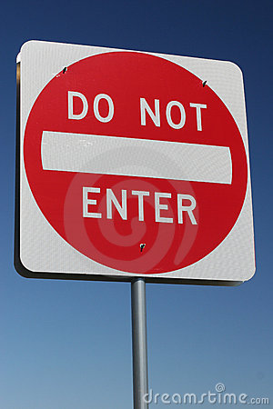 Free Traffic Sign - Do Not Enter Stock Photography - 1499172