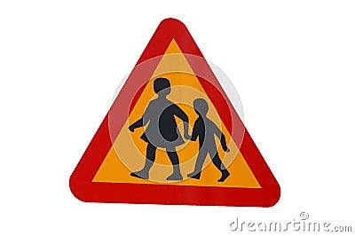 traffic sign playing children