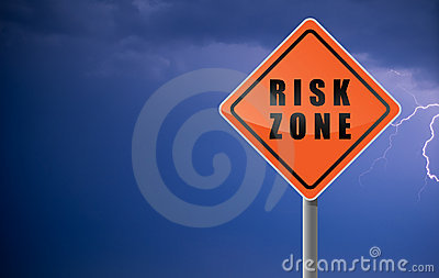Traffic sign risk zone.