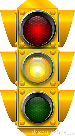 Traffic signal CAUTION