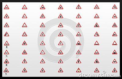 Traffic signals Collage