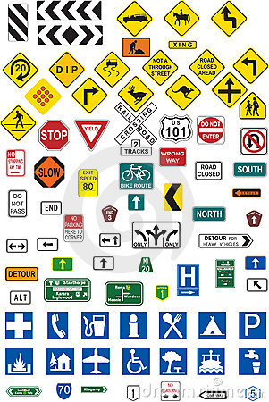 Free Traffic Signs Royalty Free Stock Images - 4240899
