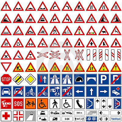 Free Traffic Signs Collection [1] Stock Photo - 8750740