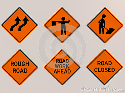 Traffic signs 3D image