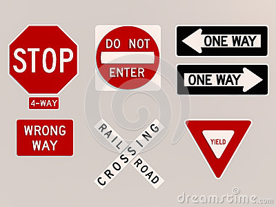 Traffic signs 3D