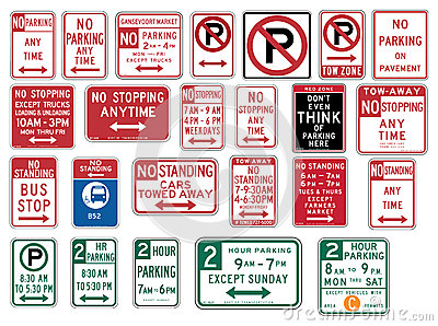 Traffic Signs in the United States - No Parking