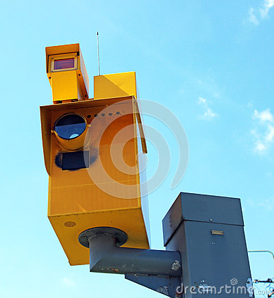 Traffic speed monitoring camera