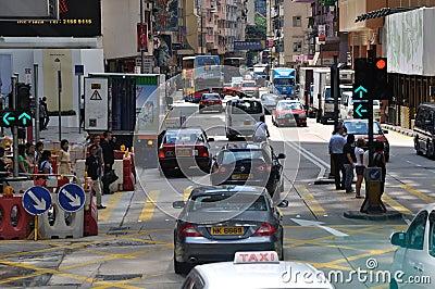 Traffic and street environment in Hongkong Editorial Photo