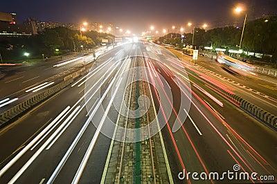 Traffic on sunset Editorial Stock Image