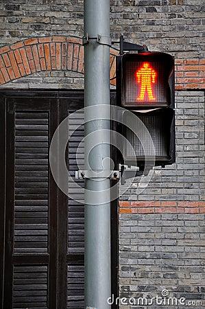 Traffic symbol of stop