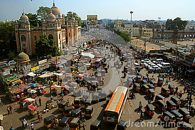 Traffic system in India Editorial Image