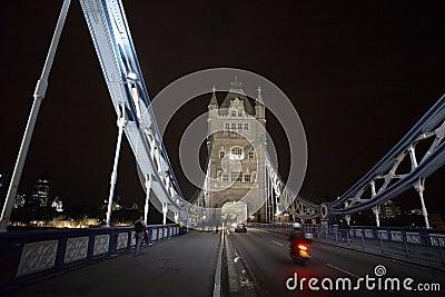 Traffic on Tower Bridge Editorial Photography