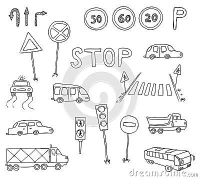 Traffic and transportation set