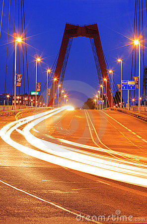 Traffic on willemsbridge in Rotterdam