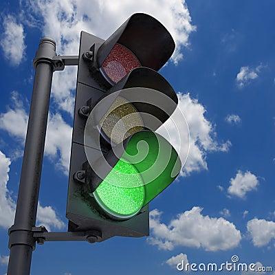 Traffico verde chiaro