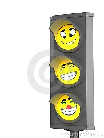 Trafic light with emotion