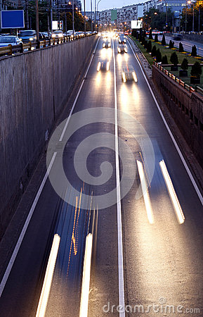 Trafic lights in the passage