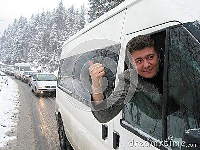 Trafikstockning Redaktionell Foto