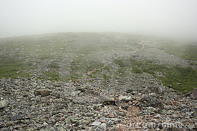 Trail and Fog on Gros Morne Mountain