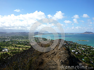 Trail leading to Kailua, O ahu, Hawai i