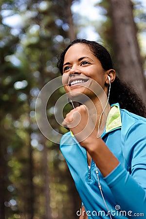 Trail runner portrait