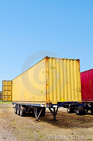Trailer with container