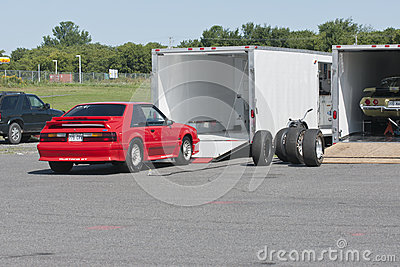 Trailers Editorial Stock Photo